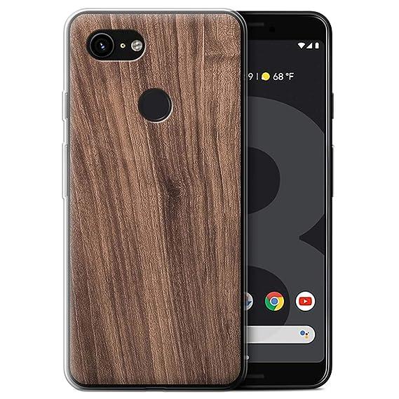 the best attitude a1595 9bfbc Amazon.com: STUFF4 Gel TPU Phone Case/Cover Google Pixel 3 / Walnut ...