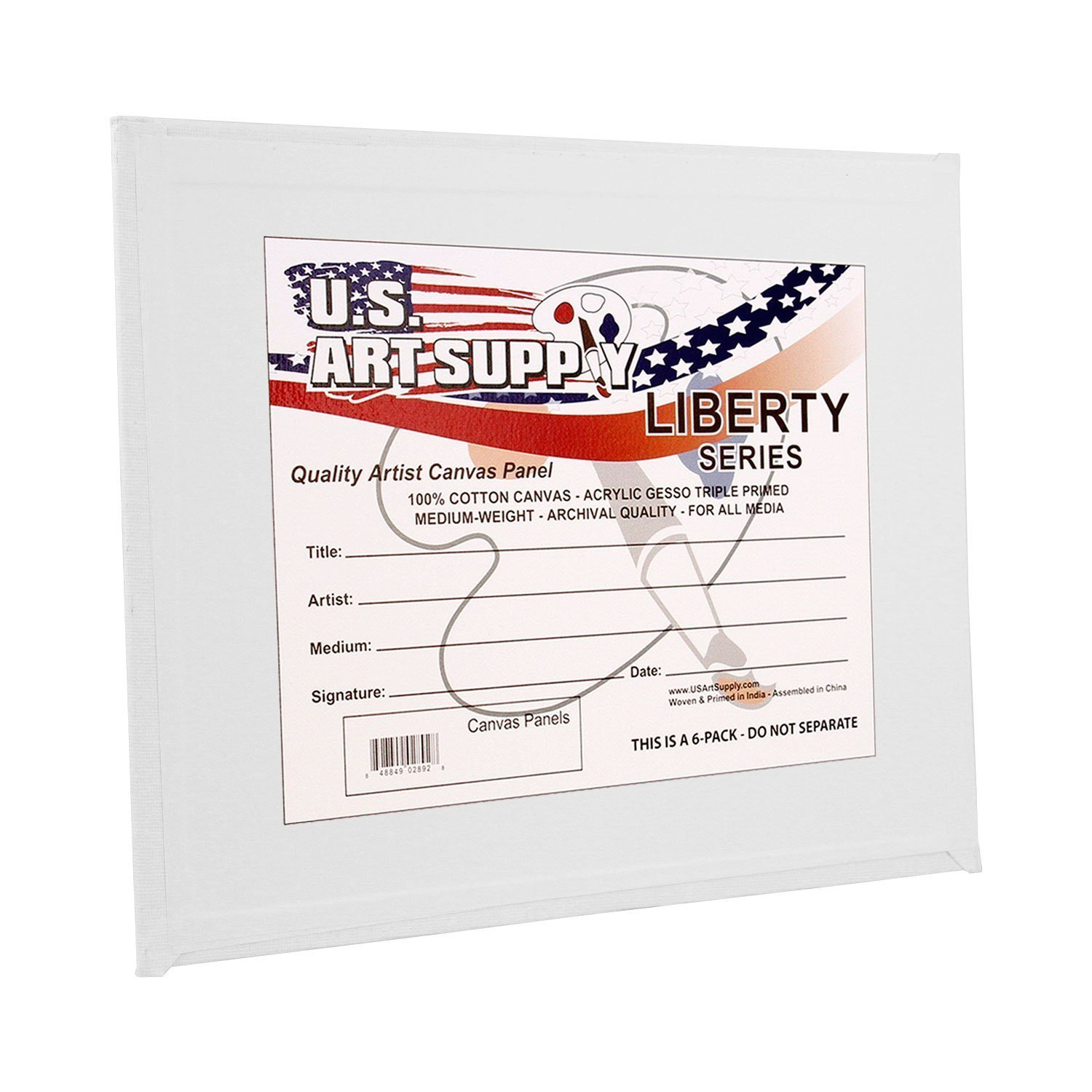 US Art Supply 5 X 7 inch Professional Artist Quality Acid Free Canvas Panels 8-12-Packs (1 Full Case of 96 Single Canvas Panels) by US Art Supply (Image #3)