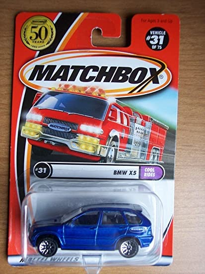 Amazon.com: BMW X5 Matchbox Cool paseos azul BMW X5 1: 64 ...