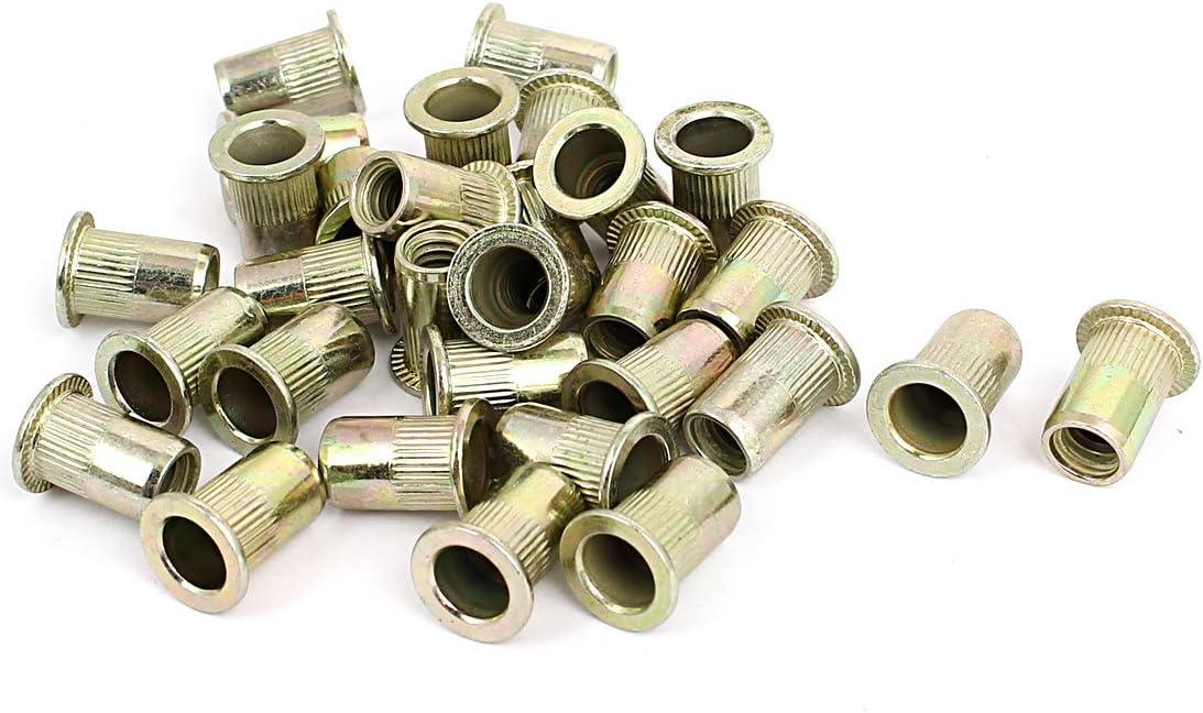 uxcell 5//16 inches Thread 18mm Long Rivet Nut Insert Nutsert 50pcs