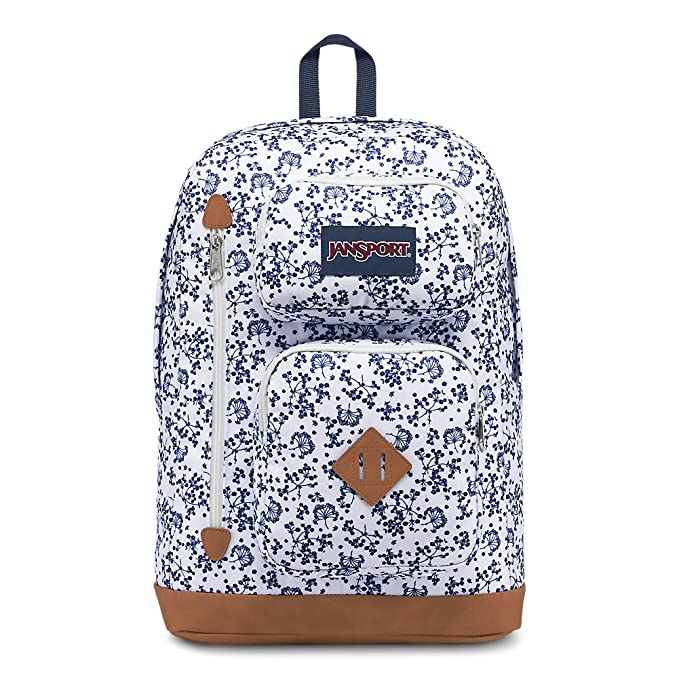 JanSport Austin Backpack - White Field Floral