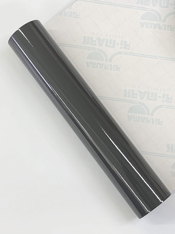 Rollo de vinilo adhesivo brillante de 2 m x 300 mm Ritrama L&M | Elige el color | para Silhouette Cameo/Curio/Retrato/Robo/Scan n Cut gris oscuro: Amazon.es: Hogar