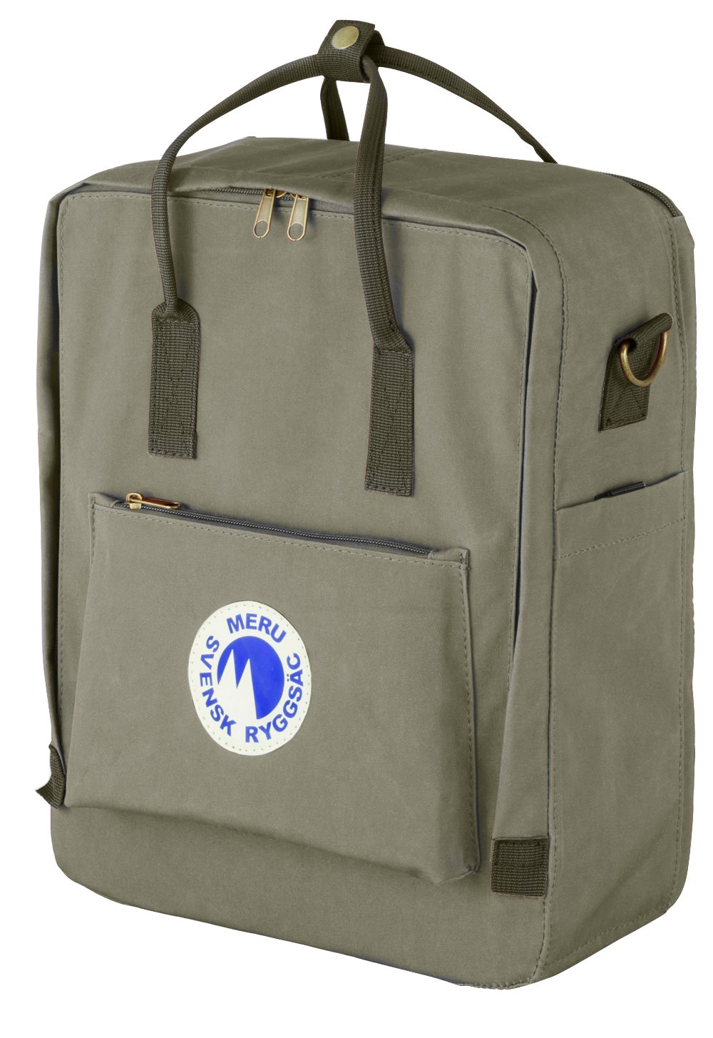 bf12692a6944 Amazon.com  Meru Swedish Backpack (Svensk Ryggsac) Small Daypack Waterproof  School Bag Pack - Unisex (Gray)  Sports   Outdoors