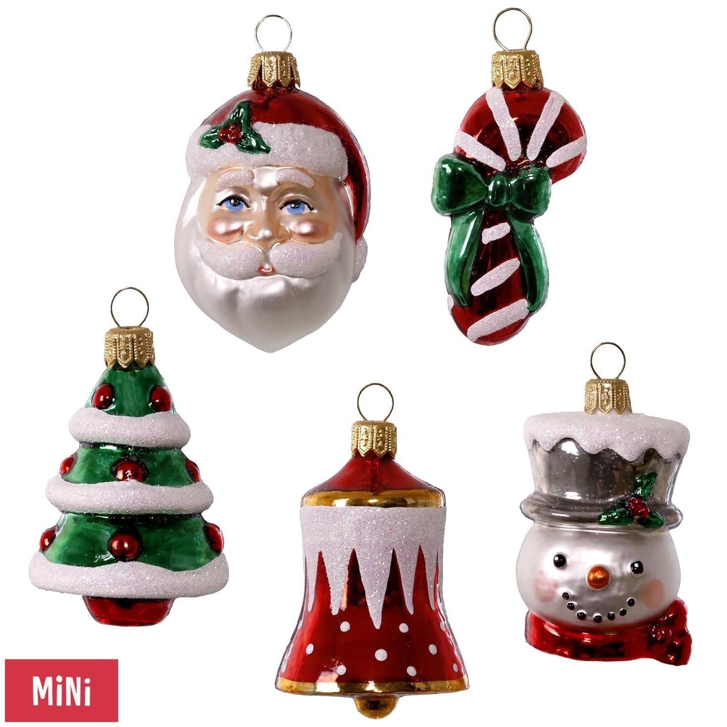 Hallmark Keepsake 2017 Symbols of the Season Premium Mini Blown Glass Christmas Ornaments, Set of 5