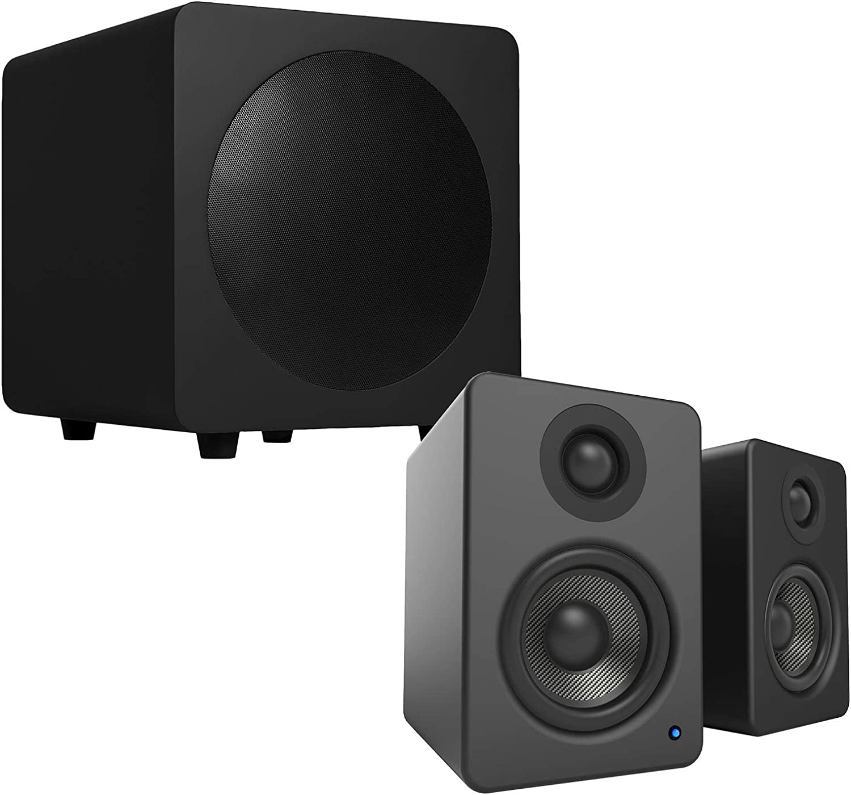 Kanto Yu2 Desktop Lautsprecher Mit Kanto Sub8 Subwoofer 20 3 Cm 8 Zoll Mattschwarz Audio Hifi