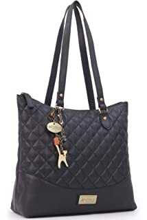Catwalk Collection Handbags - Women s Quilted Leather Tote Shoulder Bag -  SOFIA 655bf80bf9f0e