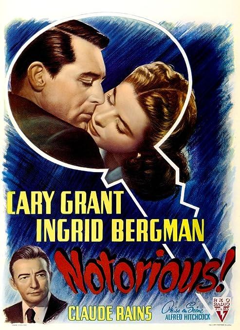Amazon.com: Posterazzi EVCMCDNOTOEC008 Notorious Movie Poster ...