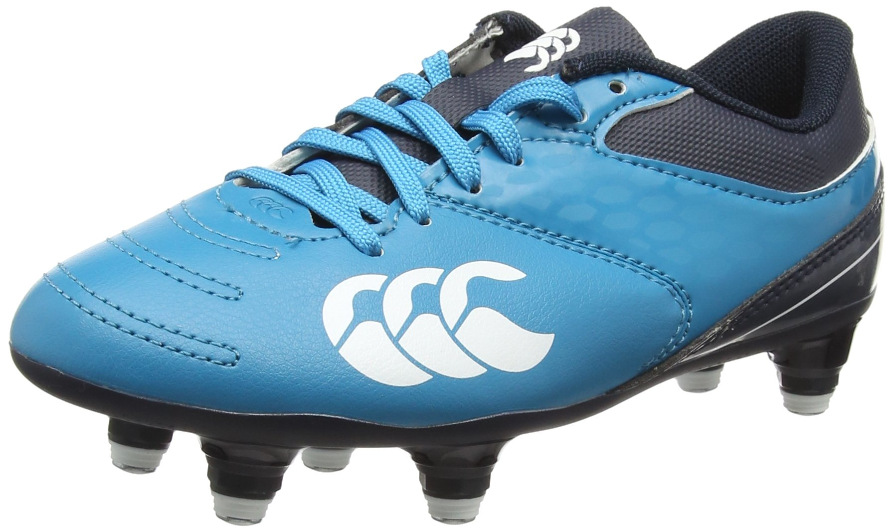 Canterbury Phoenix 2.0 Junior Rugby Boots, Blue, J1 by Canterbury