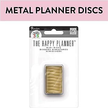 Happy Planner Mini Metal Discs 11//Pkg-Gold NEW