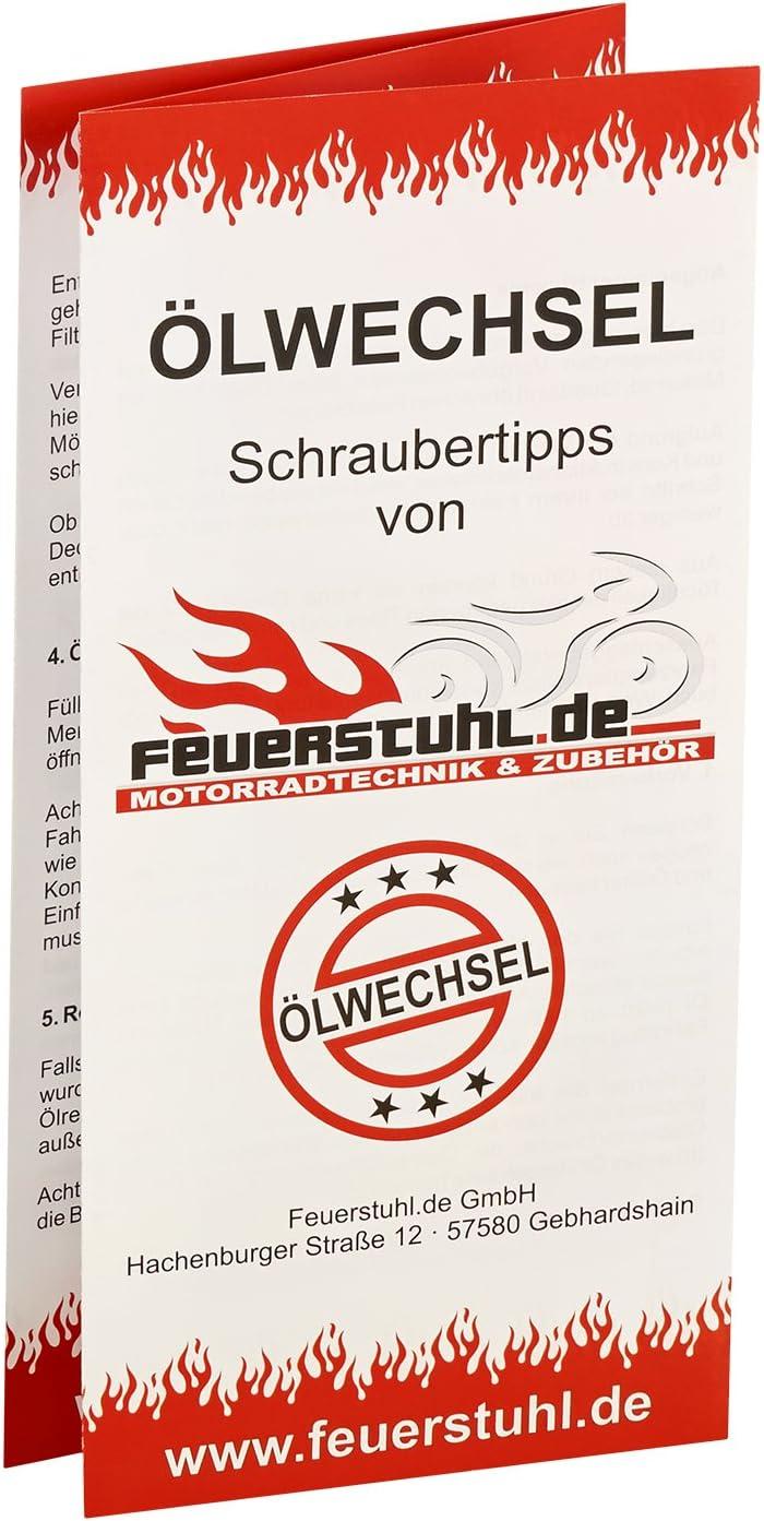 Filter HiFlo /Ölfilter f/ür Honda CB 500 Four K1 Motor/öl Dichtring /Ölwechselset inkl Gulf 10W-40 /Öl 71-77