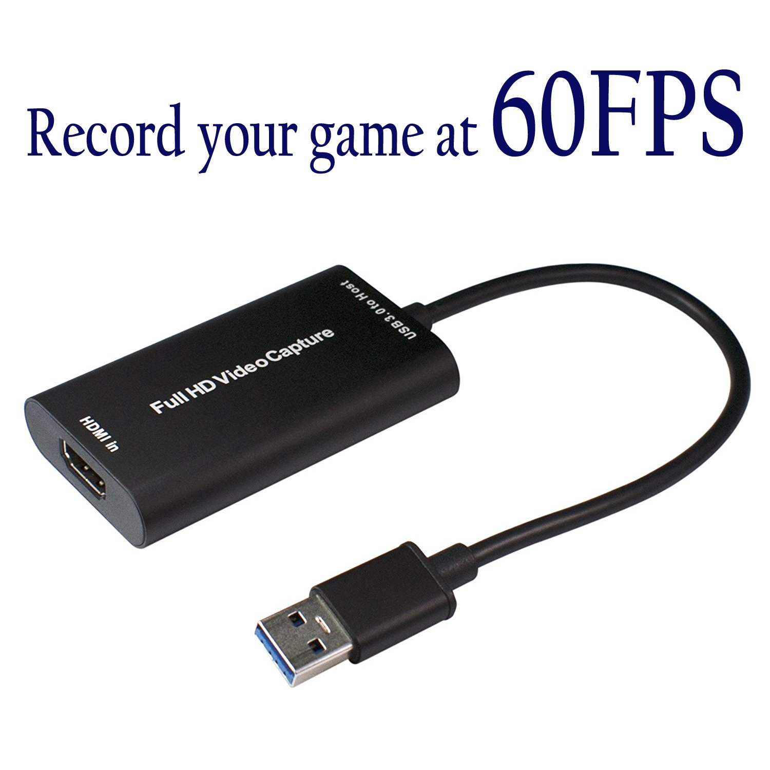 HDMI Video Capture Device USB 3.0 1080P 60 FPS Video & Audio Grabber for XBOX PS4