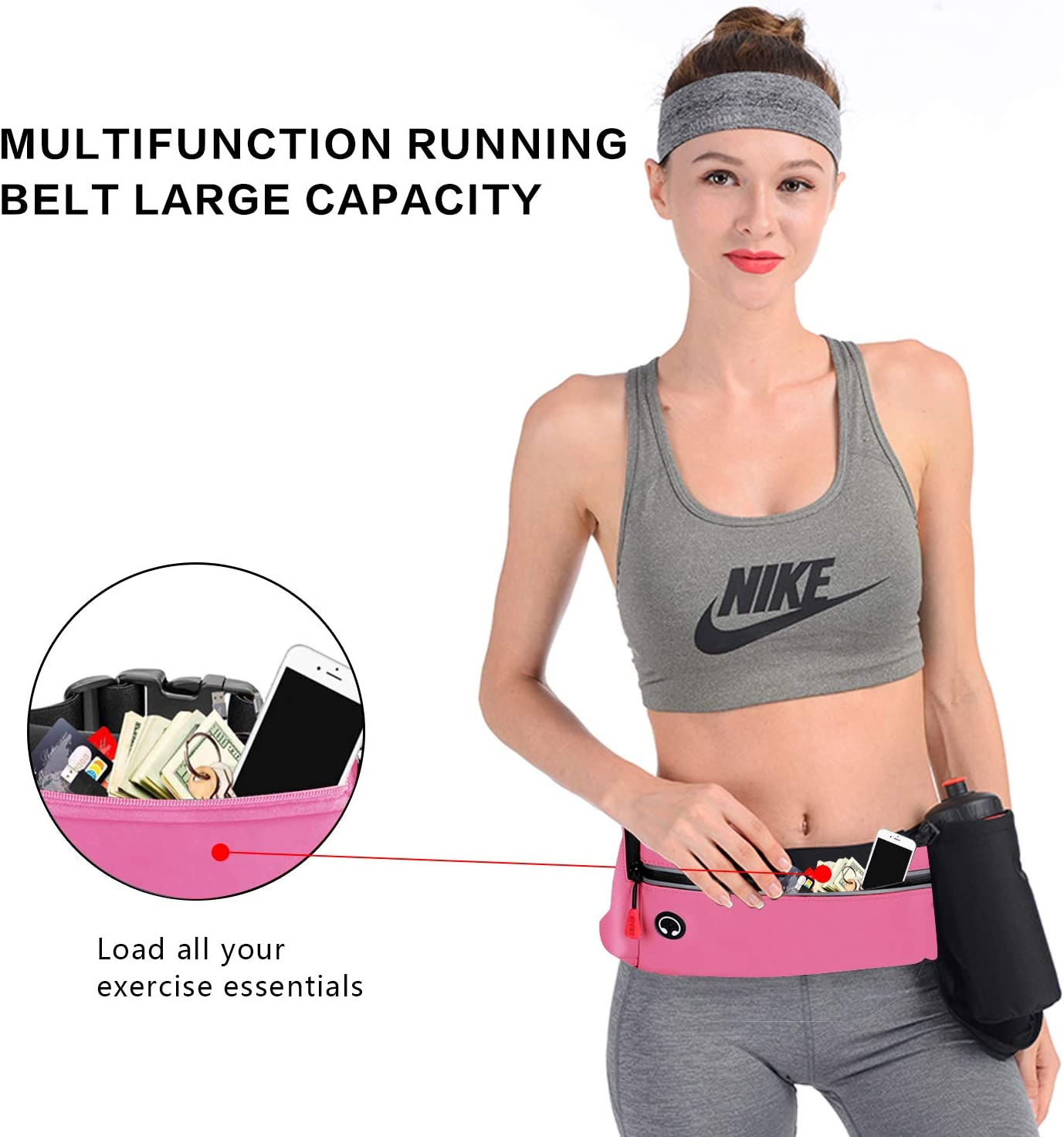 HONGKIT Waist Pack Bag Fanny Pack for Men /& Women Hip Bum Bag with Adjustable Strap for Outdoors Workout Traveling Casual Running Hiking Cycling