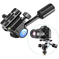 """Neewer Camera Tripod Handle Ball Head with 1/4"""" QR Plate,3-Dimensional 360 Degree Rotation for Tripod,Slider,DSLR Camera,Camcorder,Load up to 22lbs"""