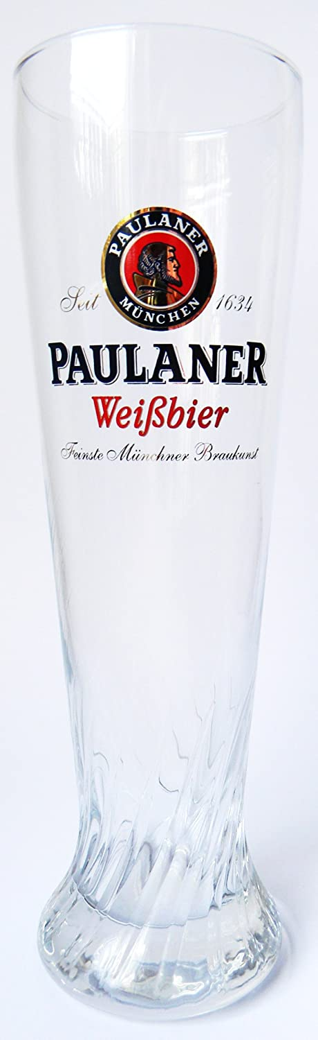 PAULANER BEER GLASSES 2 pieces 0.5 Litre lined, PINT