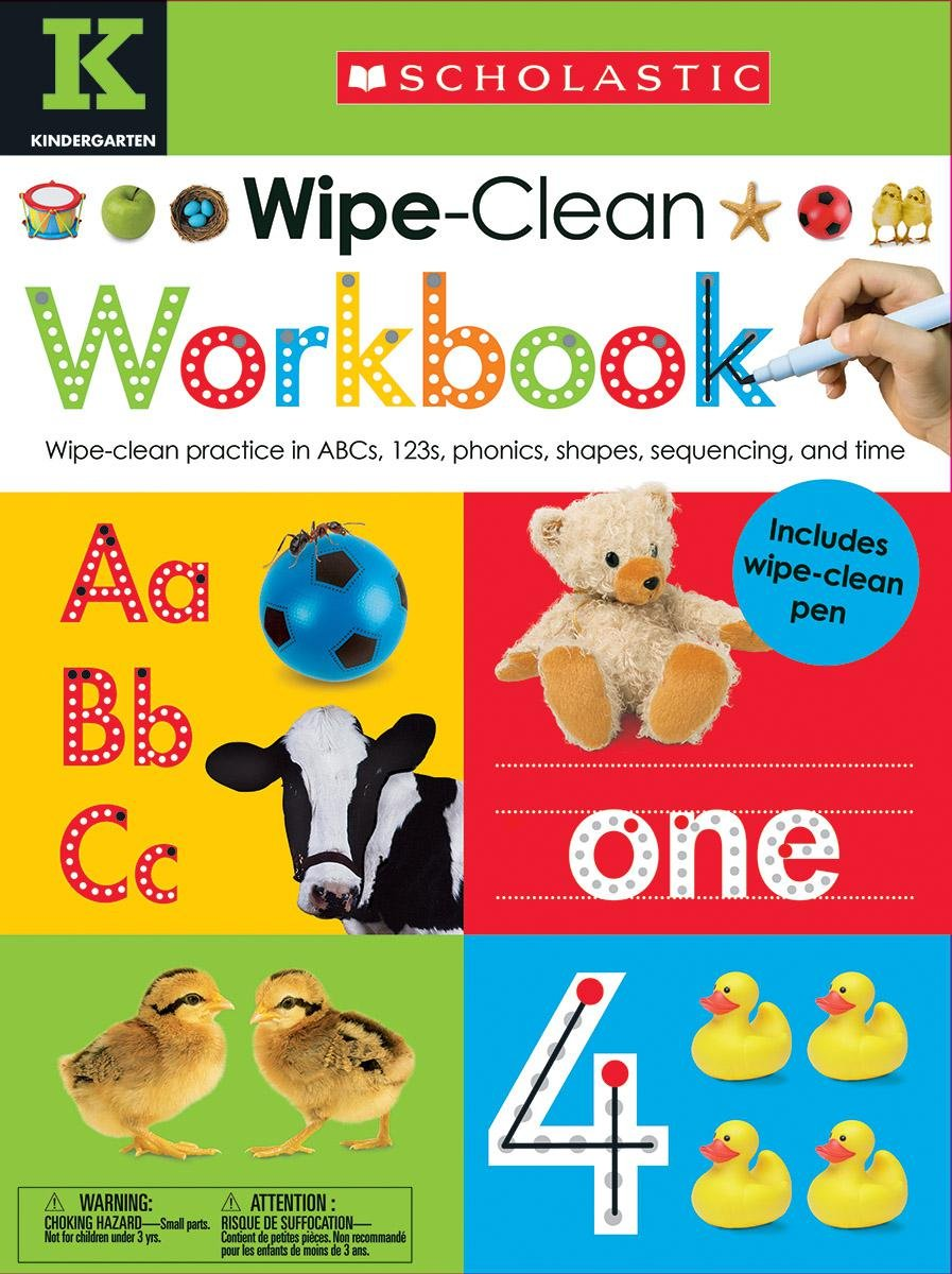 Workbooks everyday math workbook : Wipe Clean Workbook: Kindergarten (Scholastic Early Learners ...