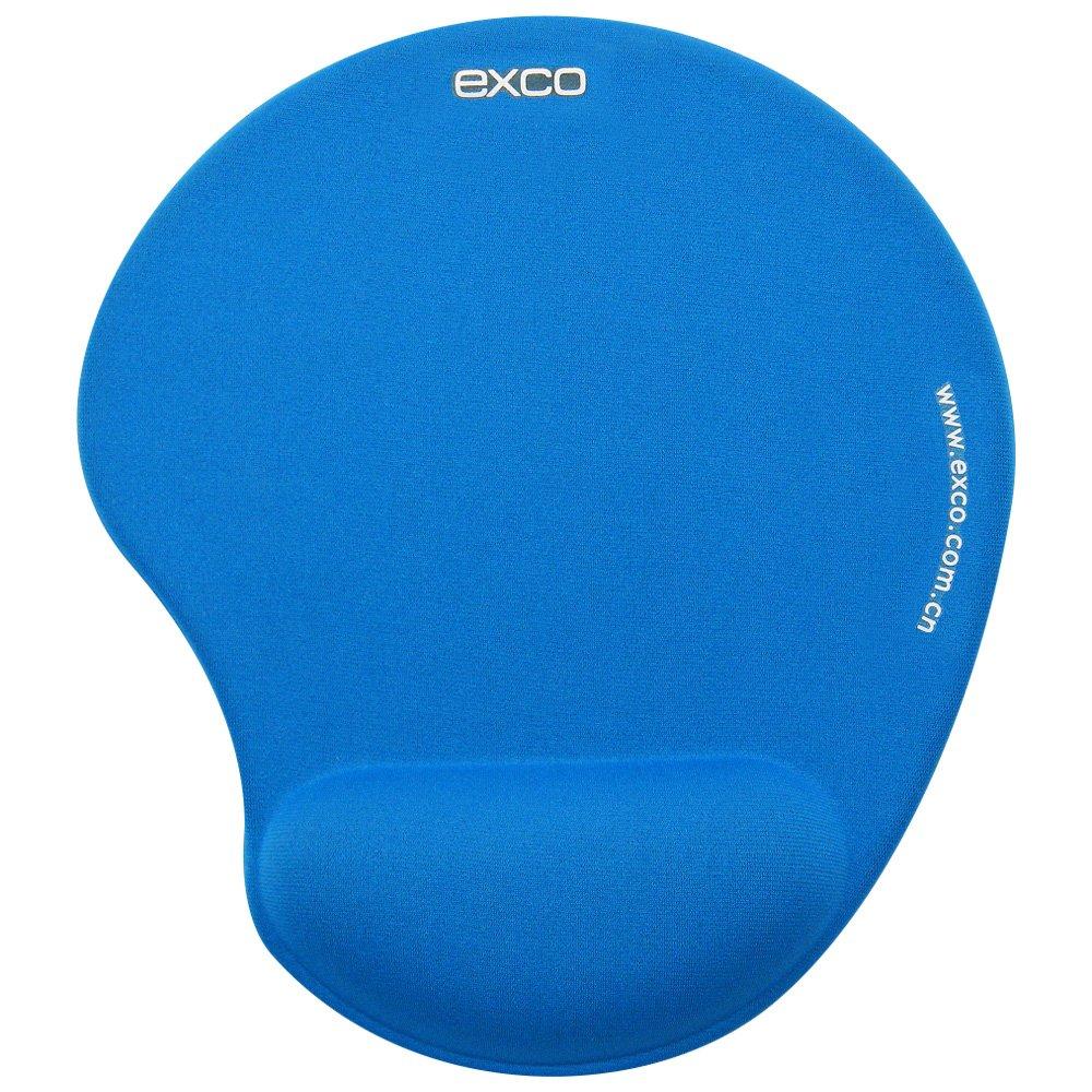 EXCO ergonomico Ellipse-Mouse Pad con supporto per polso, con Memory Foam (blu) excolife 6862626