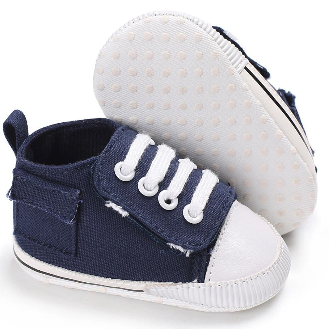 Jamicy Martin Snow Boots Schuhe Herbst Winter Warme Wasserdichte Leder Fluff Haken und Schleife Freien Shoes für Babys und Jungen (6~12 Monate, Marine)