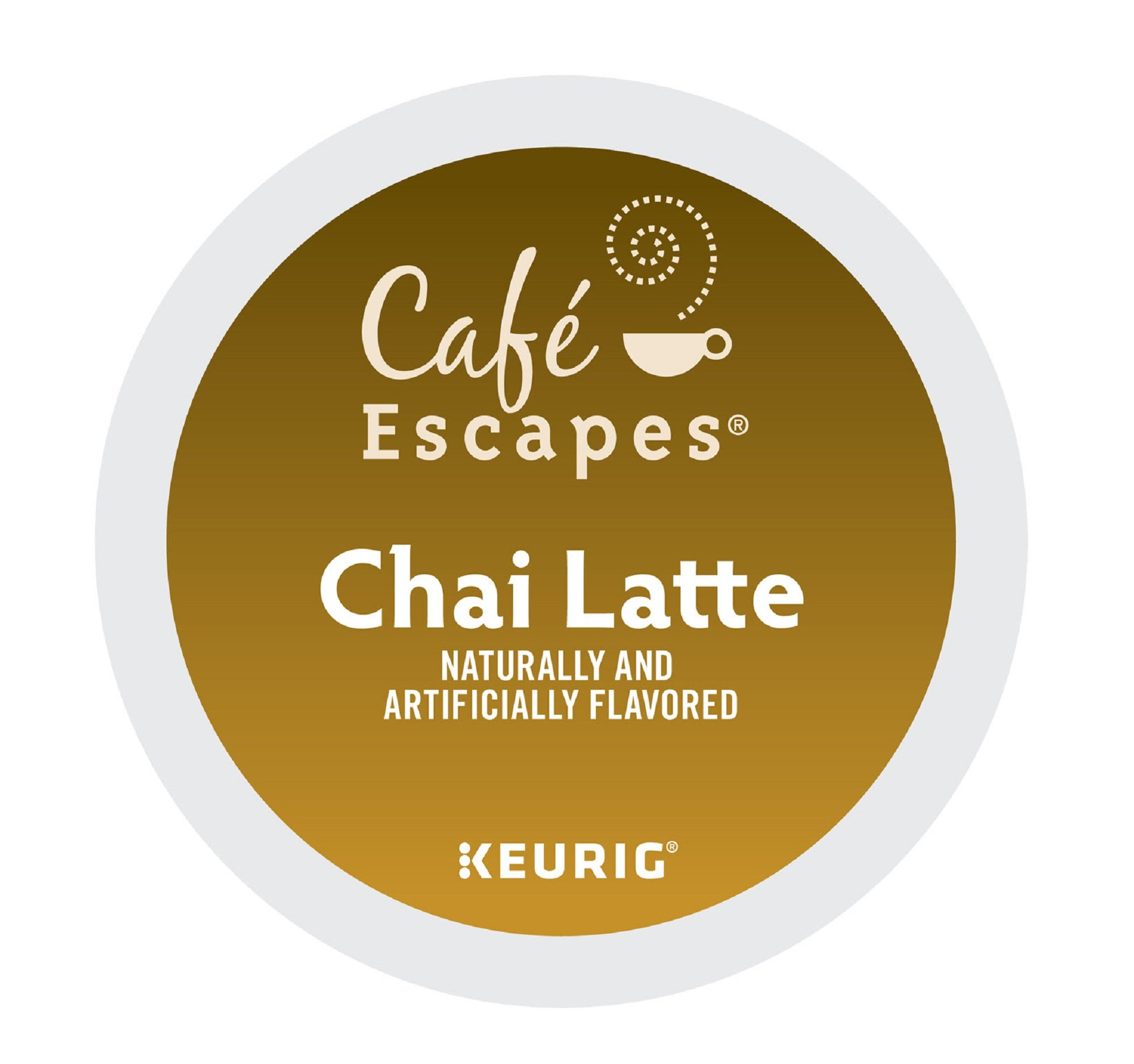 Cafe Escapes Chai Latte K-Cups, 11.7 oz, 96 Count by Café Escapes (Image #1)