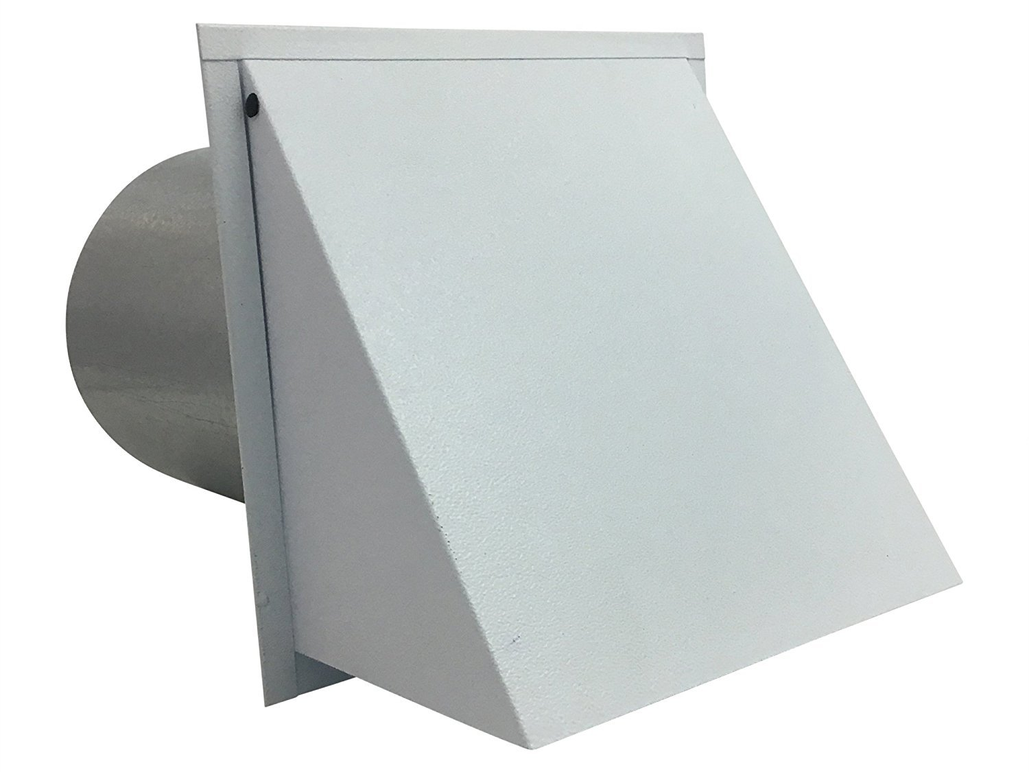7 Inch Wall Vent Painted White Damper Only (7 Inch diameter) - Vent Works