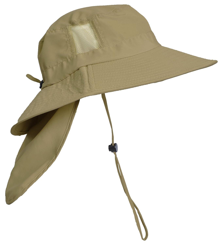 e68cf12c Sun Blocker Outdoor Sun Protection Fishing Cap with Neck Flap Wide Brim Hat  for Men Women larger image