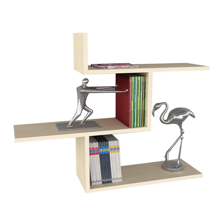 Asir Group LLC Bien Wooden Art Wall Shelf Birch Amazon