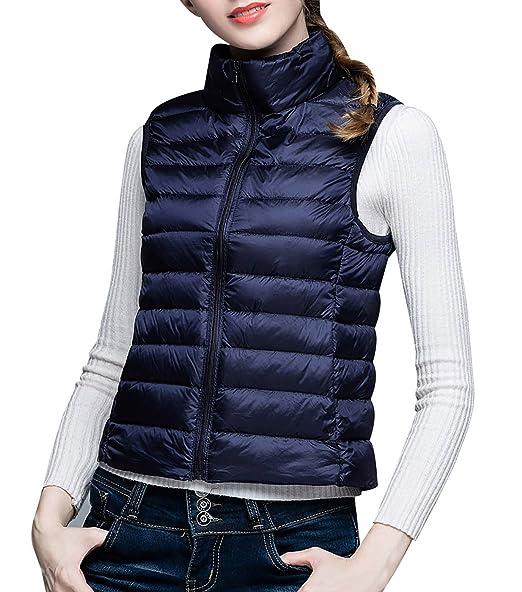 64b95dadb3e Aivtalk Mode Femme Doudoune Sans Manche Chaud Hiver Gilet de Duvet Ultra  Légère Veste Matelassé avec