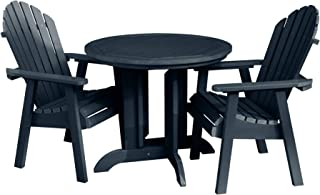 product image for highwood AD-DNA36-FBE Hamilton 3-Piece Round Height Dining Set, Federal Blue