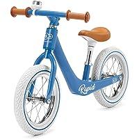 kk Kinderkraft Bicicleta sin Pedales RAPID, Sólida, Ajustable, Retro, Azul