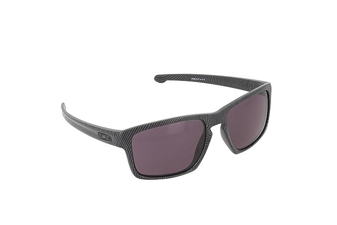 9a8dd7126a5e80 Amazon.com  Oakley Men s Sliver Rectangular, Dark Grey Fingerprint ...