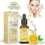 LuckyFine Vitamina C Facciale Siero 20% Potente Vitamina C infusa Punto pallido Riparare la pelle Anti età Rassodante Linee sottili e rughe--30ml