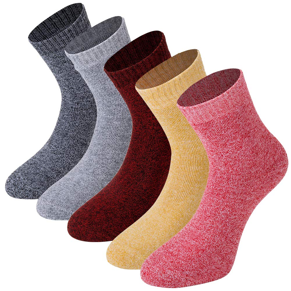 Womens Warm Thick Winter Crew Socks Cushioned Fleece Lined Thermal Boot Hiking Socks