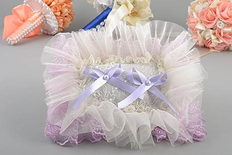 Cojin de boda para anillos hecho a mano de tela bonito ...