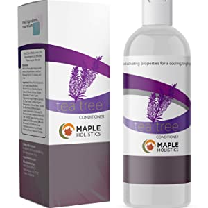 Tea Tree Oil Conditioner + Color Safe Dandruff & Dry + Damaged Hair Treatment and Dry Scalp Relief Moisturizer to Naturally Refresh Hair with Pure Tea Tree Essential Oil and Jojoba for Silky Soft Hair
