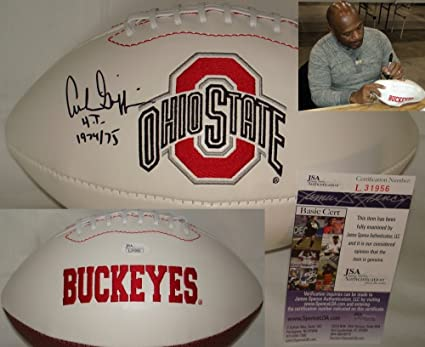 b2a7a6ba9 Archie Griffin Hand Signed   Autographed Ohio State Buckeyes Logo Football  - JSA