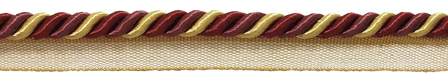 5716 D/ÉCOPRO Medium Wine Gold Baroque Collection 5//16 inch Cord with Lip Style# 0516BL Color Autumn Leaves Sold by The Yard