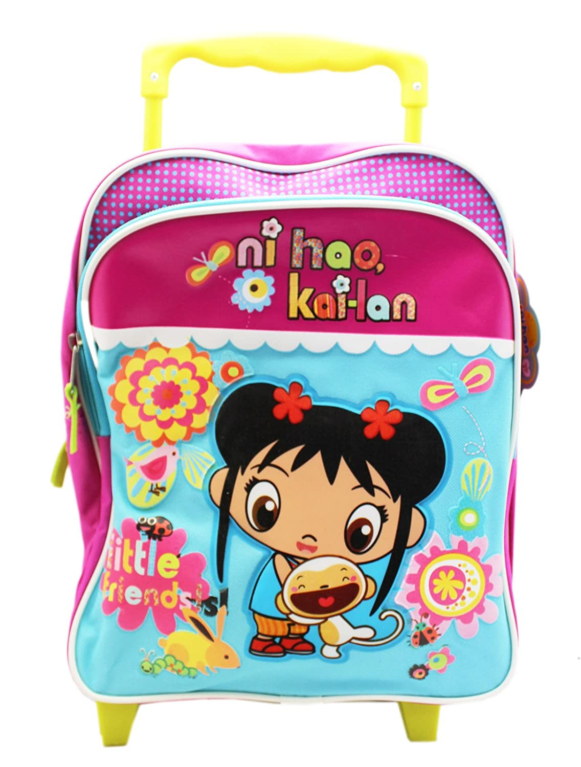 774108f2b3 durable service Ni Hao Kai-Lan Little Friends Toddler Small Rolling Backpack  (12in)