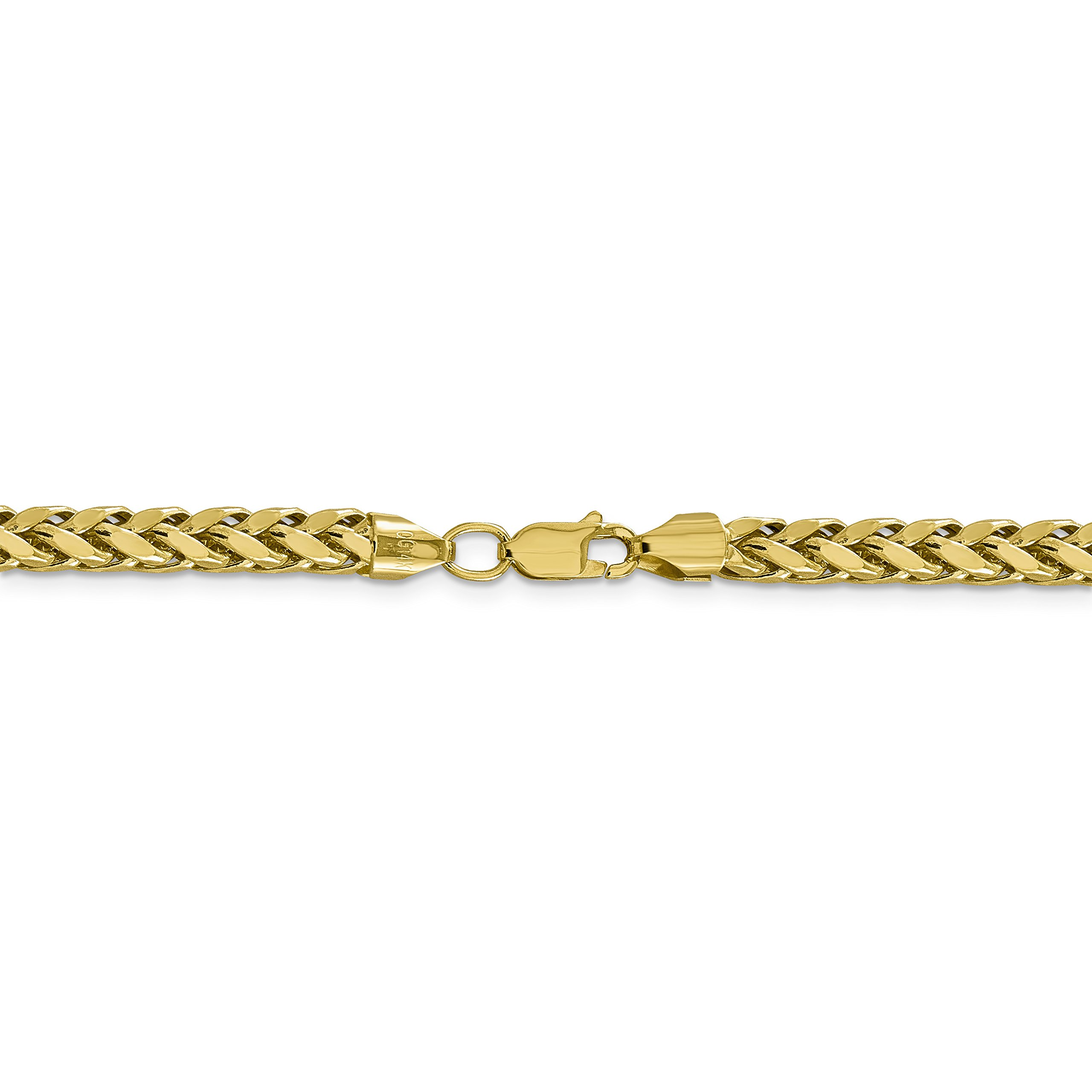 ICE CARATS 14k Yellow Gold 5mm Link Wheat Chain Necklace 18 Inch Spiga Oval Fine Jewelry Gift Set For Women Heart by ICE CARATS (Image #4)