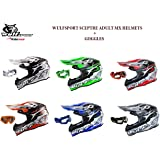 Adult Mx Helmet Wulfsport Sceptre New Model Motorcycle Motorbike Off Road Racing ATV Enduro Helmet With Goggles