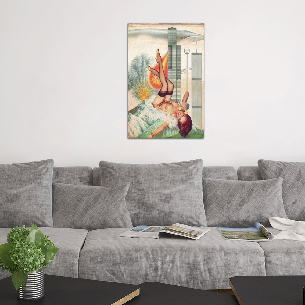 iCanvasART 3 Piece Pinup #7 Canvas Print by Marcel Lisboa 60 by 40//0.75 Deep