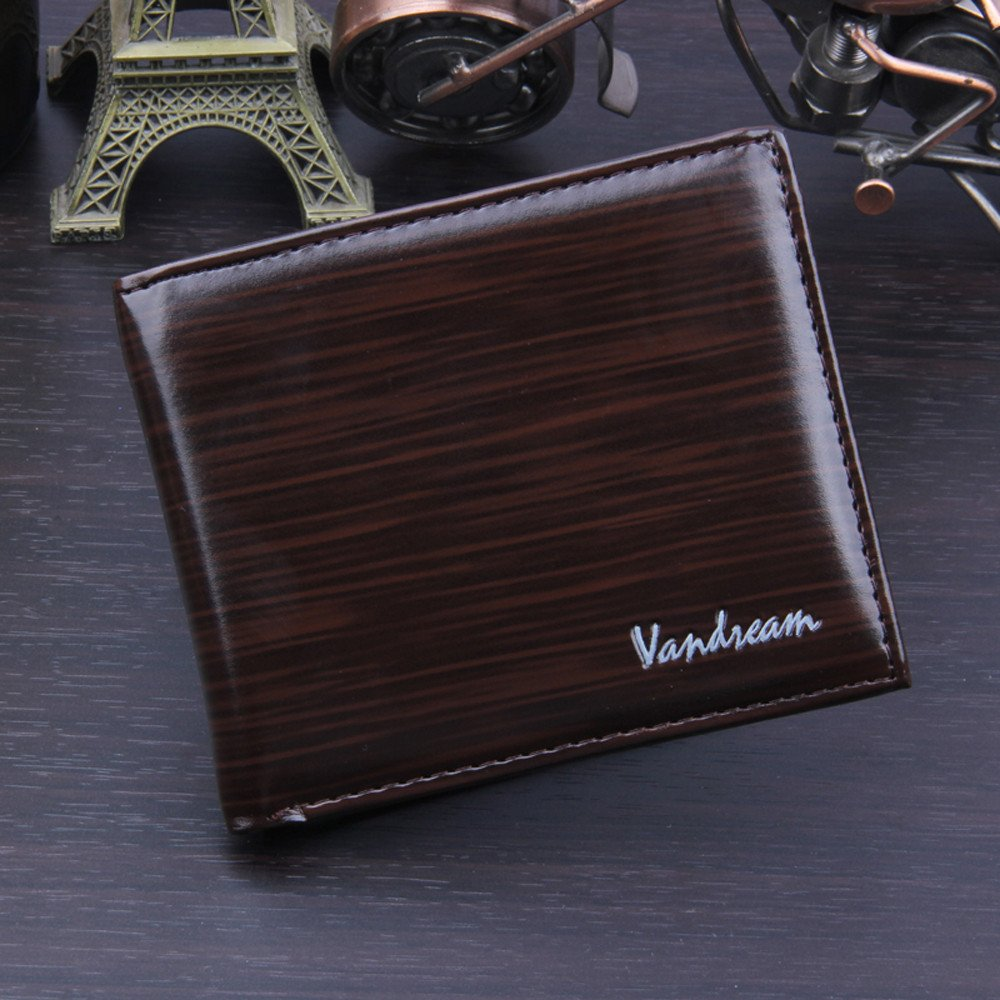 TheRang Men Bifold Business Leather Wallet ID Credit Card Holder Purse Pockets
