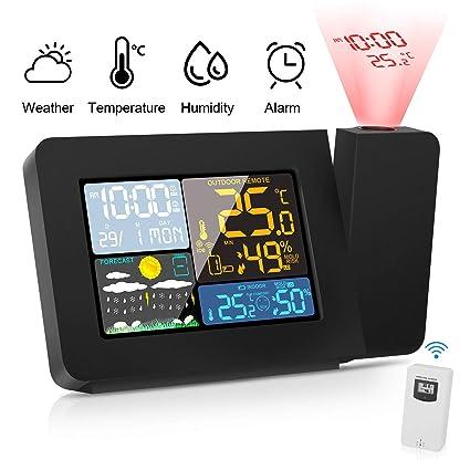 Sainlogic Digitale Funk Wetterstation Außensensor Mondphasenanzeige Thermometer
