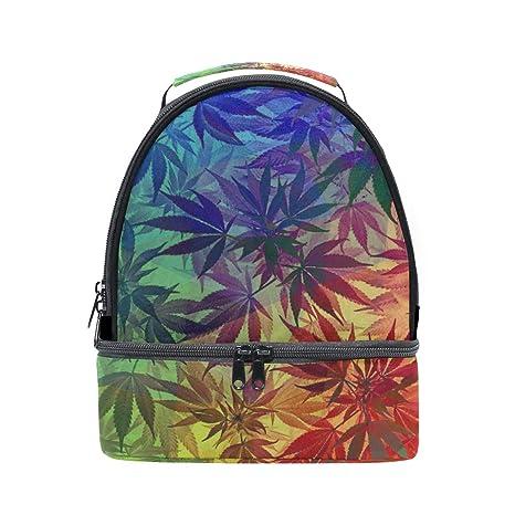 0d3dba61854b Amazon.com - HEOEH Grunge Marijuana Leaf Weed Lunch Bag Insulated ...