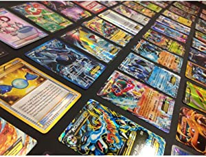 Unbranded Pokemon TCG : 100 Card LOT Rare, COM/UNC, Holo & Guaranteed EX, MEGA OR Full Art