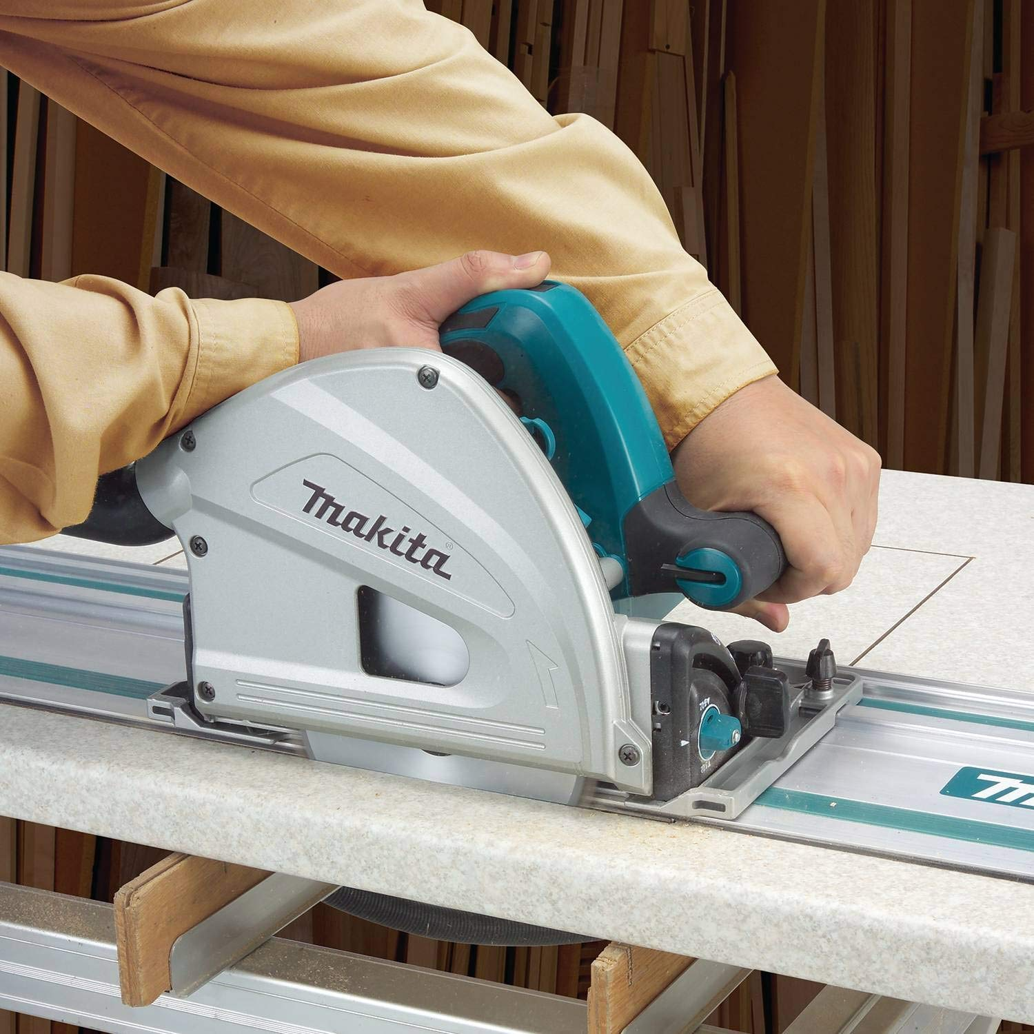 demonstration of track saw