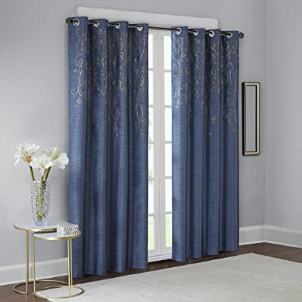 Buy Blue Curtains for Living Room, Contemporary Modern Curtains for ...