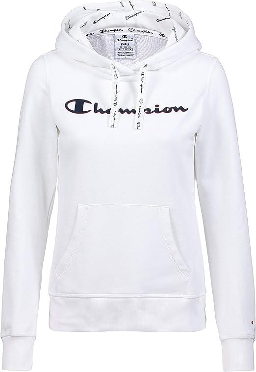 Champion Felpa Donna garzata Art.111276 Bianco P//E
