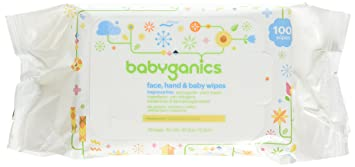 Packaging May Hand and Baby Wipes 800 wipes Babyganics Fragrance-Free Face