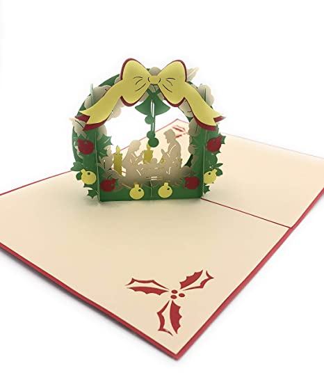 Amazon.com : IOC Merry Christmas Nativity Pop up Greeting ...