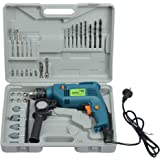 CAMEL BRAND 13 mm 500 W Impact Drill Machine with Reversible Function and Drilling Accessories (Blue)
