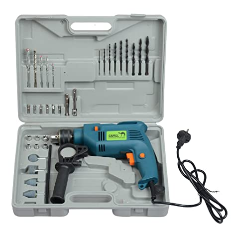 d7ca35e2781 Camel 13Mm 500W Impact Drill Machine With Reversible Function + 100+  Accessories  Amazon.in  Home Improvement